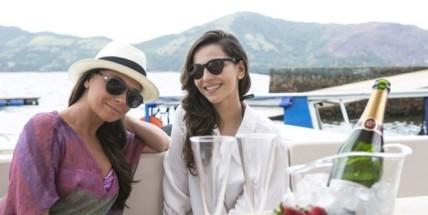 Clara e Marina, o casal em potencial do horário nobre atual. Imagem de divulgação: Rede Globo.