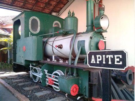 O Museu Ferroviário expõe a primeira rimeira locomotiva de Bauru. (Créditos: Ana Carolina Moraes)