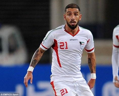 Dejagah foi a esperança iraniana no jogo contra a Nigéria mas não brilhou no 0x0 (Foto:EMPICS Sport)