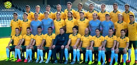 Seleção australiana é a primeira a desembarcar em solo brasileiro. (Foto: Divulgação/Federação Australiana de Futebol)
