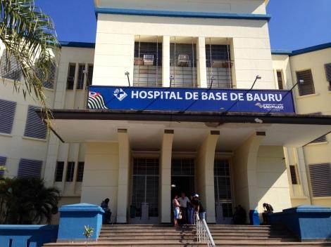 O Hospital de Base de Bauru fica localizado no centro da cidade. (Créditos: Camila Gallate)