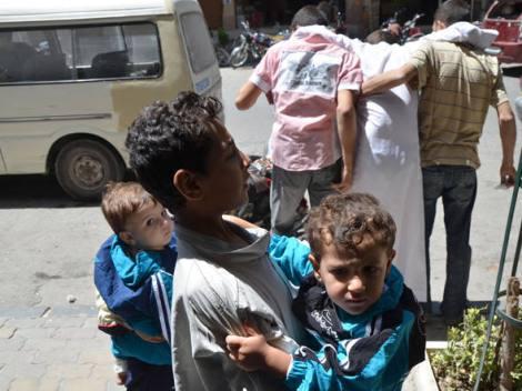 Os ataques químicos em agosto de 2013 deixaram 1300 sírios mortos, mas a maioria não estava envolvida com os rebeldes.  Créditos: Bassam Khabieh/Reuters