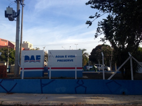 Reservatório de água do DAE  fica próximo ao Parque Vitória Régia. (Créditos: Camila Gallate)