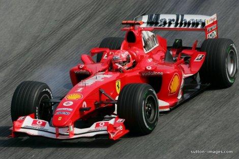 Carro da Ferrari, pilotado por Michael Schumacher (Créditos: Sutton Images/Divulgação)