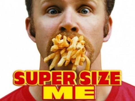 (Capa do documentário Super Size Me. Créditos: Divulgação)