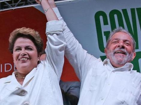 Em discurso, Dilma agradeceu ao ex-presidente Lula pelo apoio. (Créditos: Ricardo Stuckert/Instituto Lula)