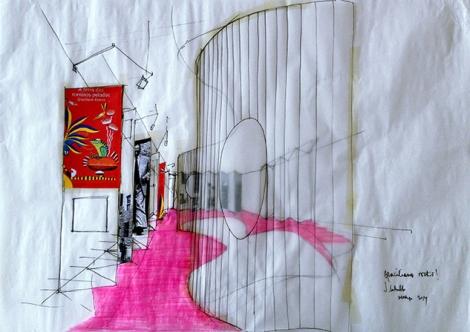 Projeto da cenografia da Mostra, assinada pelo escritório Fazemos Arquitetura. (Foto: Divulgação/Bamboo)