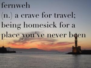 """Fernweh é uma palavra de origem alemã. Ela não possuí uma tradução literal e precisa, mas é utilizada para descrever """"a vontade de viajar; saudades de um lugar onde você nunca esteve"""".  (Créditos: time of solitude)"""