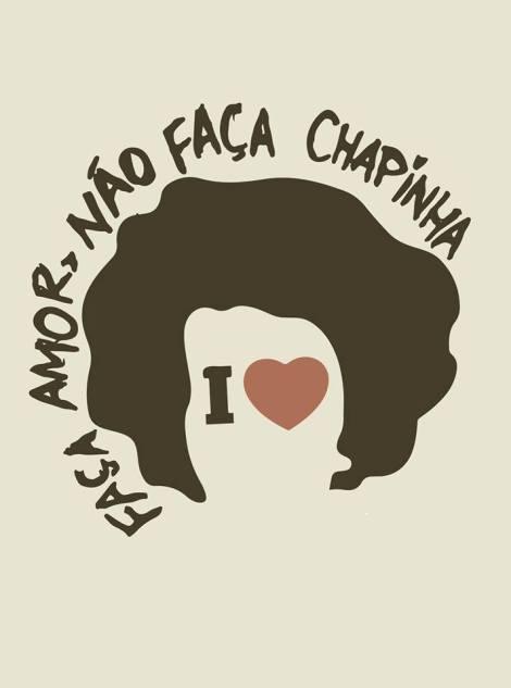 """""""Pra que química, chapinha, escova nos seus cachos, ondulados, crespos? Viva à liberdade de expressão capilar!!!"""" Manifesto da página Faça Amor, Não Faça Chapinha. (Foto: divulgação/ Faça Amor, Não Faça Chapinha)"""