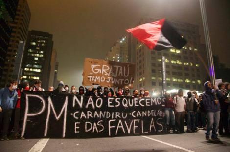 A violência da polícia militar ocorre principalmente nas periferias e favelas das cidades do Brasil. (Créditos: Caio Castor)