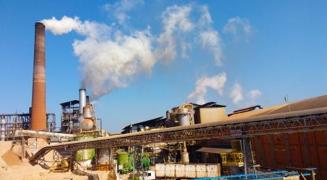 Usina Diamante em Jaú/SP, que produz açúcar, etanol e energia. Foto por: Mariana Mesquita.